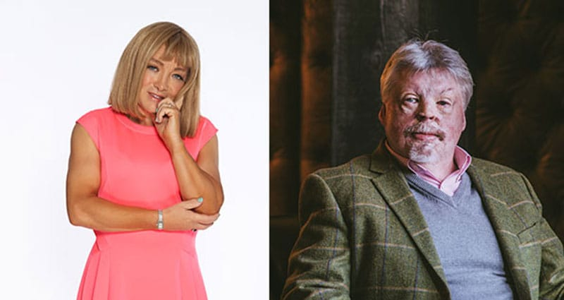 Kellie Maloney and Simon Weston