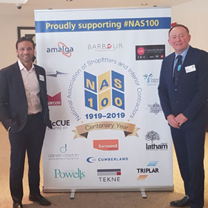 Mark Ramprakash at National Association of Shopfitters